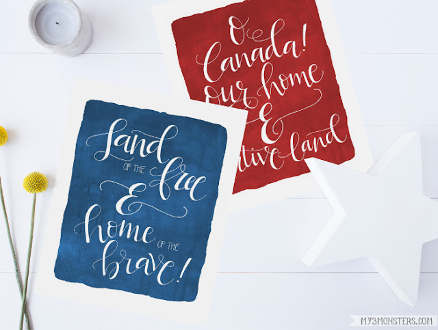 Darling Patriotic Printables -- free downloads from my3monsters.com available at Lolly Jane.