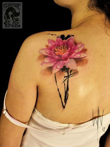 Gorgeous Lotus Flower Tattoo