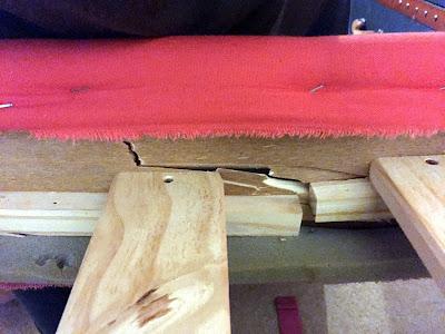 Cracked bed frame