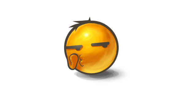 whispering emoticon