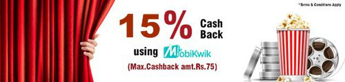 Bookmyshow 15% cashback offer