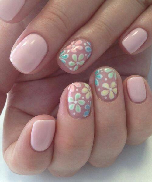 Nail-arts-desgin-pink-flowers
