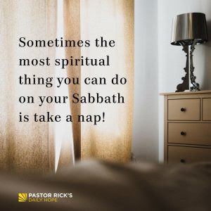 What Should You Do on the Sabbath? by Rick Warren