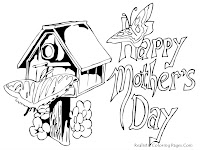 Free Mothers Day Printable Kids Coloring Pages 2013