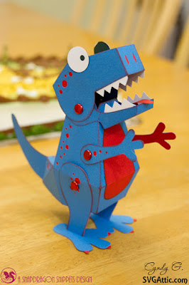 3d paper dinosaur
