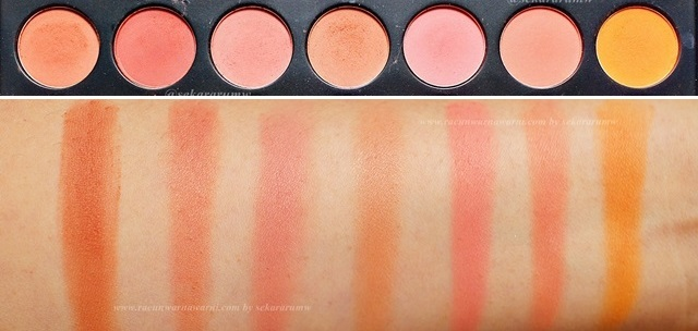 Swatch Morphe Eyeshadow Baris 2