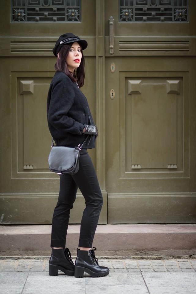 stylizacja z bomberką jak nosić