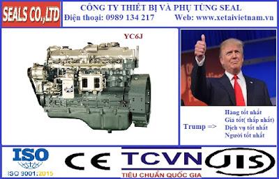 Phụ tùng động cơ yuchai chính hãng tại Hà Nội - model Yuchai YC6J