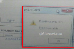 eSPT Tahunan PPh Badan Error Run-time Error 13 Type Mismatch