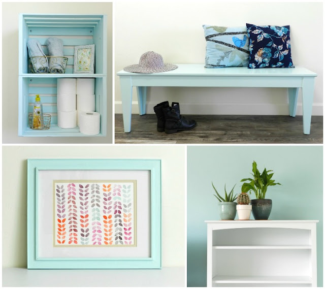 Blue Home Decorating Projects, Beach home decor: Grow Creative Blog