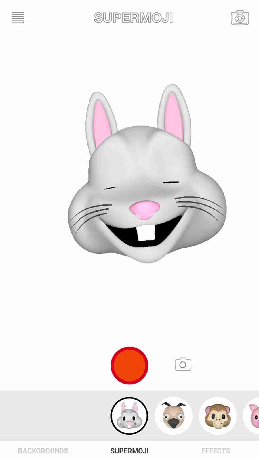 The Apple iPhone X Rabbit Animoji Emojis