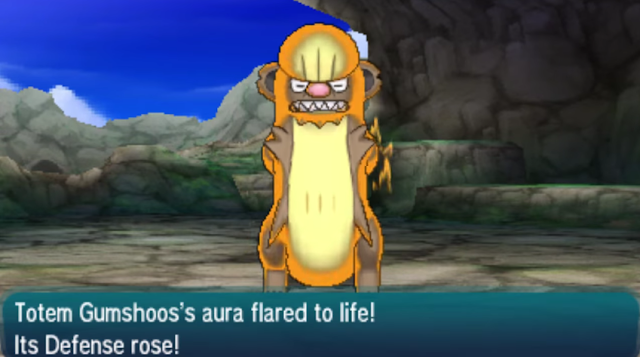 Totem Gumshoos's aura flared to life! Its Defense rose! Donald Trump Wall just got ten feet higher Pokémon Sun Moon
