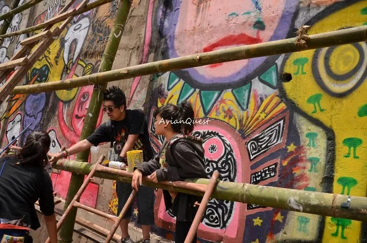 Tamawan Village Making of a Graffitti Mural Baguio City Philippines 52