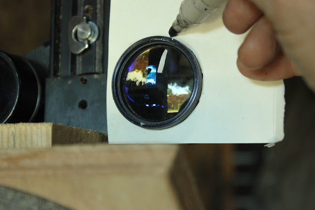 Marking Lens Position for Binocular Collimation without Prism Adjustment