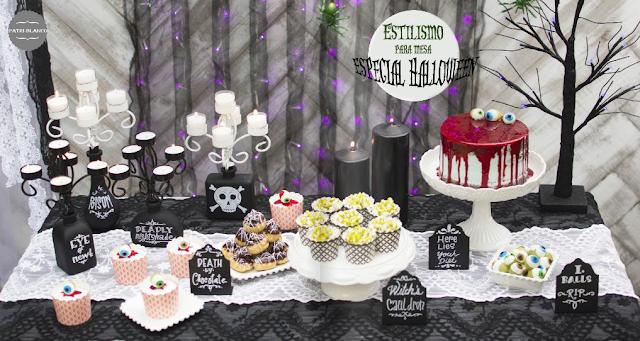 Decora la mesa para halloween