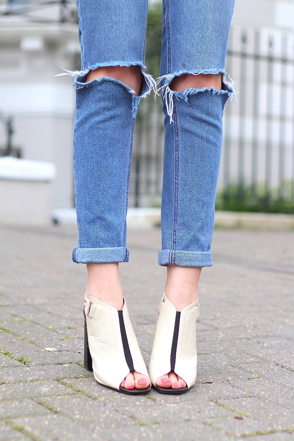 mules ripped jeans asos