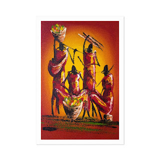 Vibrant Masai Women Print | artpreneure-20