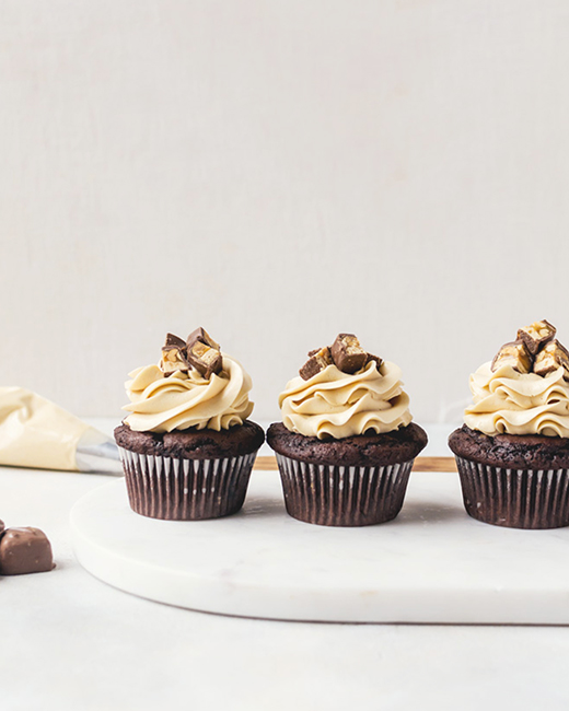 Snickers Cupcake . A Cookie Named Desire .
