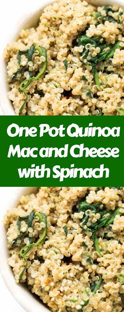 One Pot Quinoa Mac and Cheese with Spinach