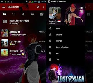 BBM MOD LOST SAGA V3.0.1.25 APK (BBM LORI GAMI)