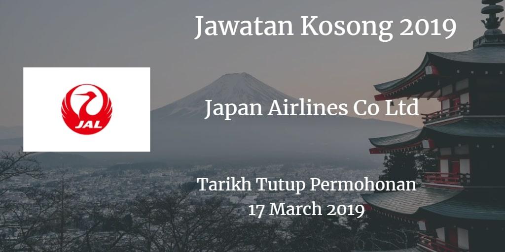Jawatan Kosong Japan Airlines Co Ltd 17 March 2019