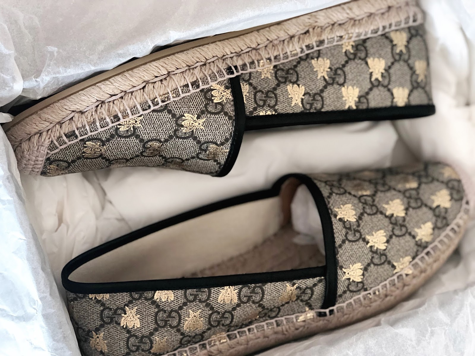 Gucci GG supreme Bee Espadrilles www.ourdubailife.com