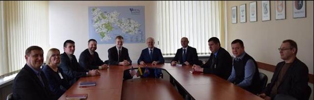 Ambasados delegacijos susitikimas su savivaldybės komanda