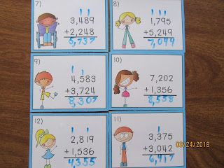 4 Digit Addition Task Cards