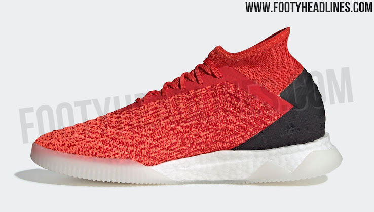 a2f5aa57baf05 ... the Adidas Predator Tango 19 shoes have an upper that features two  shades of red. Black is used on the heel