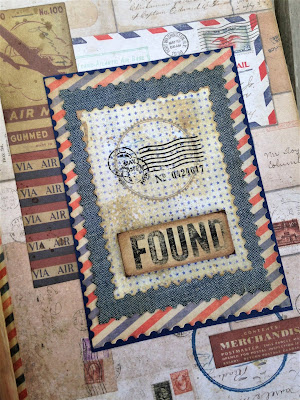 Sara Emily Barker sarascloset1.blogspot.com Vintage Mail Folio #Tim Holtz #Ideaology #Distress #Sizzix Alterations #Stampers Anonymous