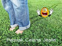 Permak Celana Jeans dengan Cara Potong Sambung