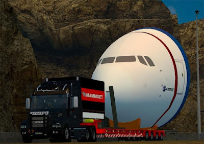 Trailer JUMBO Red Mammoet ETS2
