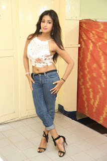 Deekshita Parvathi in a short crop top and Denim Jeans Spicy Pics Beautiful Actress Deekshita Parvathi January 2017 CelebxNext (248).JPG