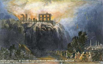 Burning   of Nottingham Castle, c1831.