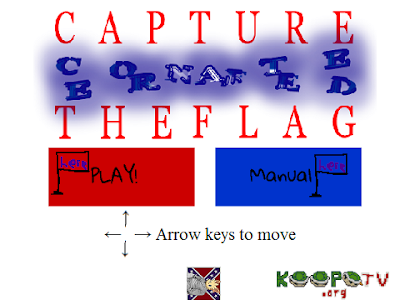 Capture the Confederate Flag title screen alternate version
