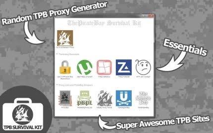 ThePirateBay Survival Kit Googl Chrome App