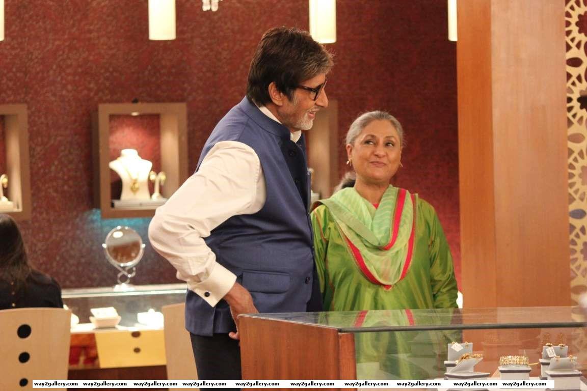 Jaya Bachchan and Amitabh Bachchan shoot for a Kalyan Jewellers ad