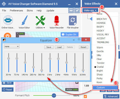 Equalizer in Skype  voice changer