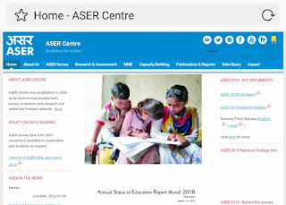 ASER 2018- ASER (Annual Status of Education Report)-
