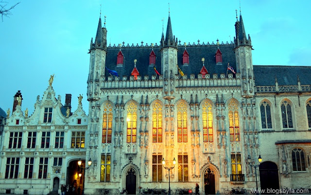 Bruges City Hall at the Burg Square