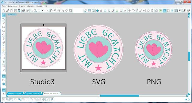 Veranschaulichung der Motivgrößen bei Studio3, SVG und PNG