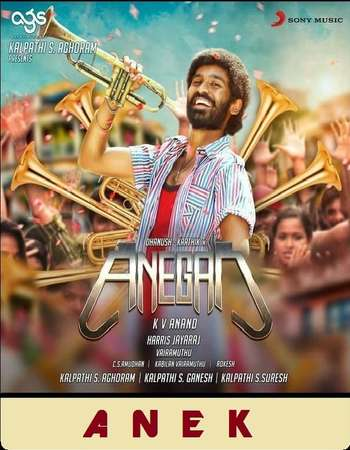 Poster Of Anegan 2015 Dual Audio 720p UNCUT HDRip [Hindi - Tamil] ESubs Free Download Watch Online downloadhub.in