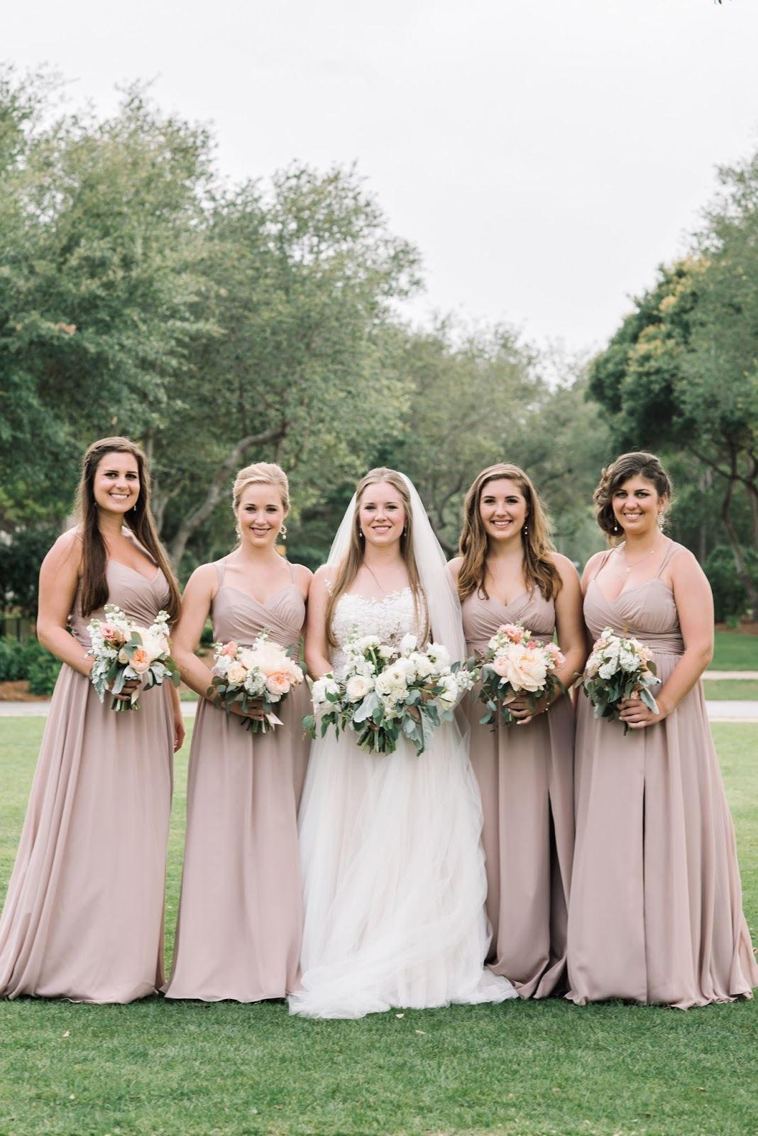 Our wedding bridal party i love how other weddings have different styles and even different shades of bridesmaid dresses but for my wedding we took the traditional route not for ombrellifo Images
