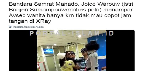 Inilah SOSOK Joice Warouw, Istri Jendral Polisi yang TAMPAR Petugas Keamanan Bandara