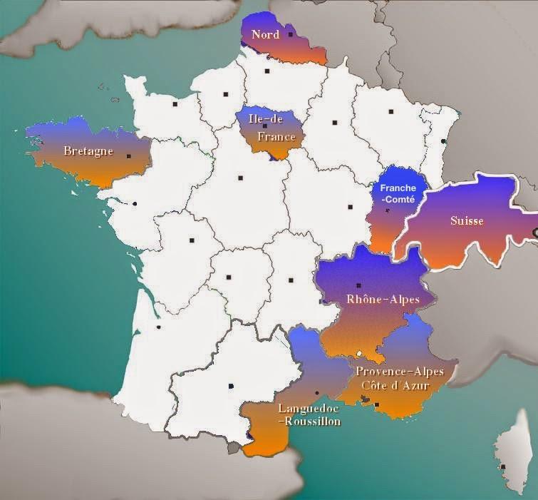 Carte du Réseau des Srages Déclic