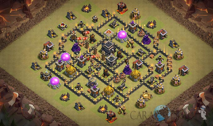 Base War TH 8 di Clash Of Clans Terbaru 2017 Tipe 6