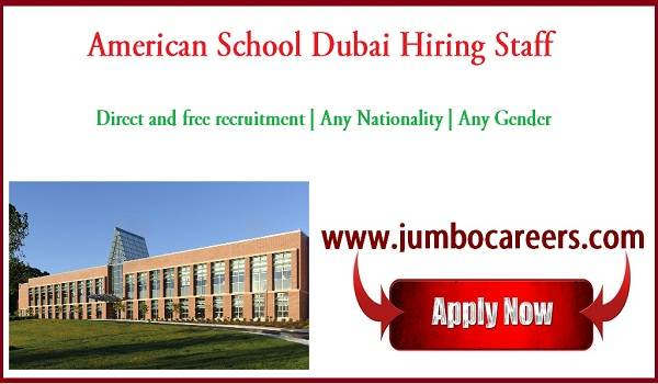 Latest school jobs for Indians, Direct free recruitment jobs in Dubai,