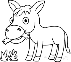 Baby Donkey Coloring Pages