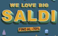 Logo Pittarello Fidelity ''We Love Big Saldi'' fino al - 70%