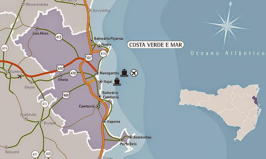 Costa Verde e Mar, Santa Catarina